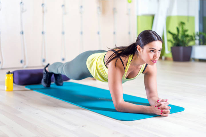 Plank exercise for a flat belly